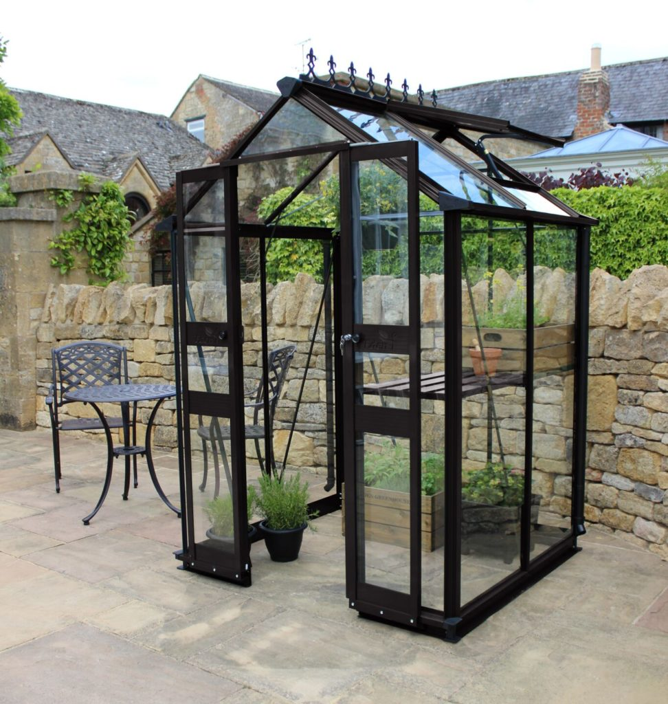 den Birdlip 44 Greenhouse - Black