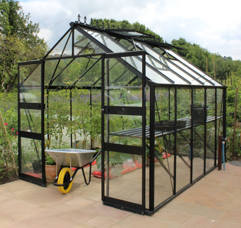 Eden Blockley 810 greenhouse in black