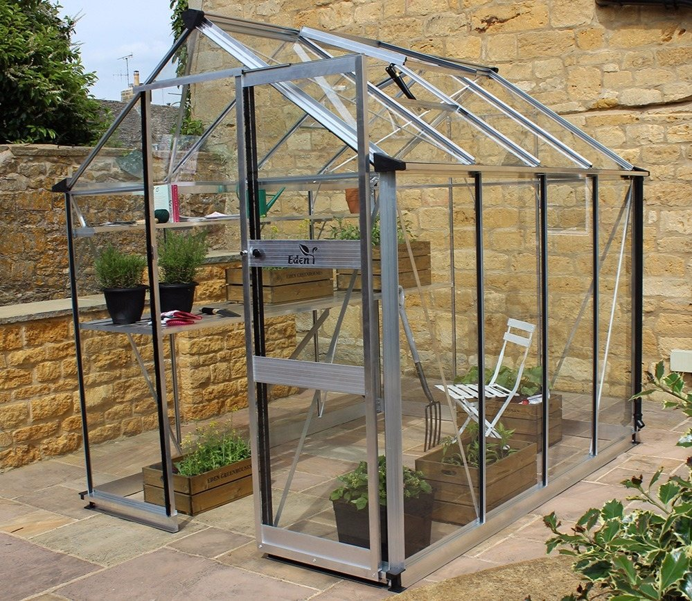 Eden Burford 68 greenhouse in aluminium
