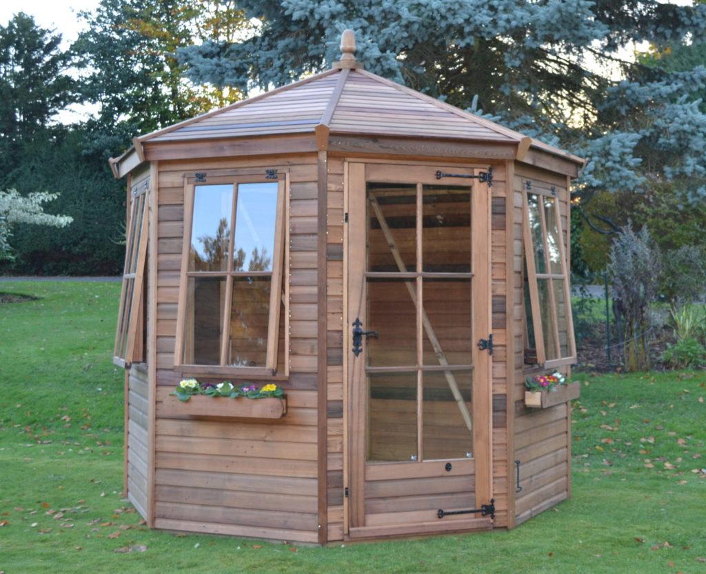 Regency Wingrove Summerhouse 8' x 8' with optional cedar cladding, georgian glazing & cedar slatted roof