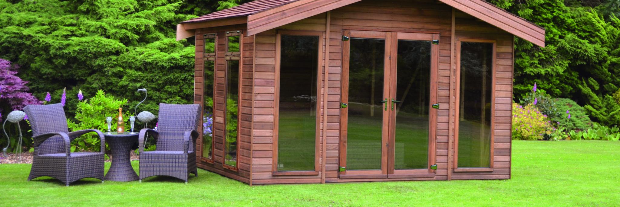 Regency Riviera Summerhouse 12' x 8'with optional cedar cladding and cedar shingle roof