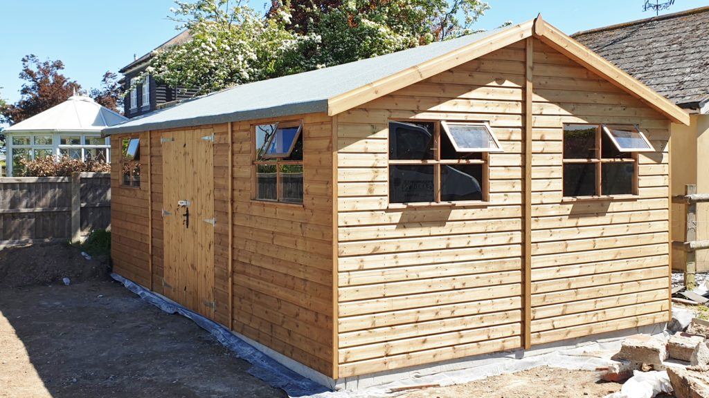 Passmores 18 x 12 Heavy Duty Workshop with extra window and optional door security upgrade