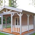 Lugarde Log Cabin with canopy & verandah B58