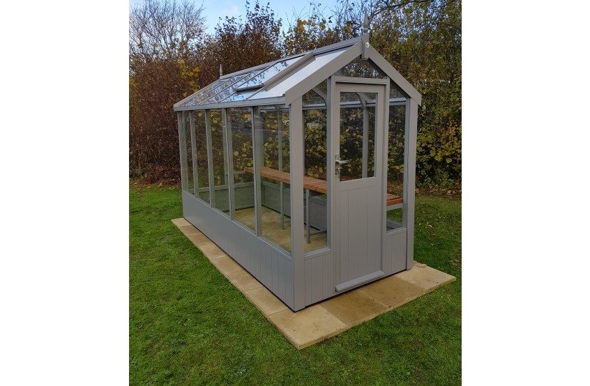 Swallow Lark Greenhouse 4'7x10'5 painted Moles Breath