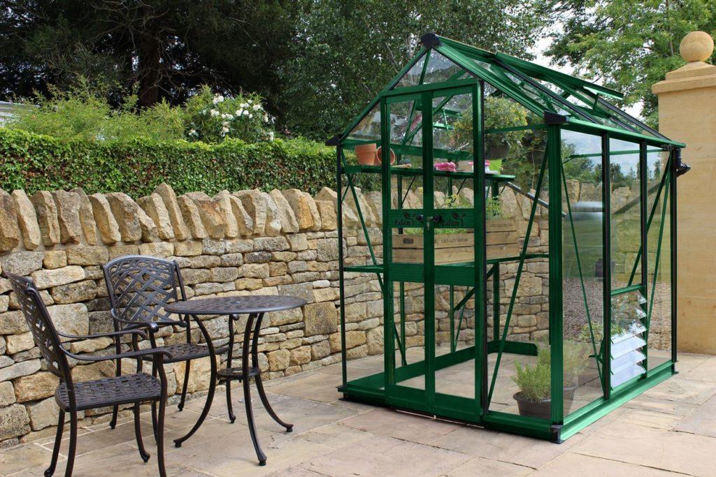Eden Birdlip 46 greenhouse green