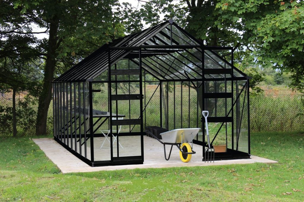 Eden Bourton greenhouse - black