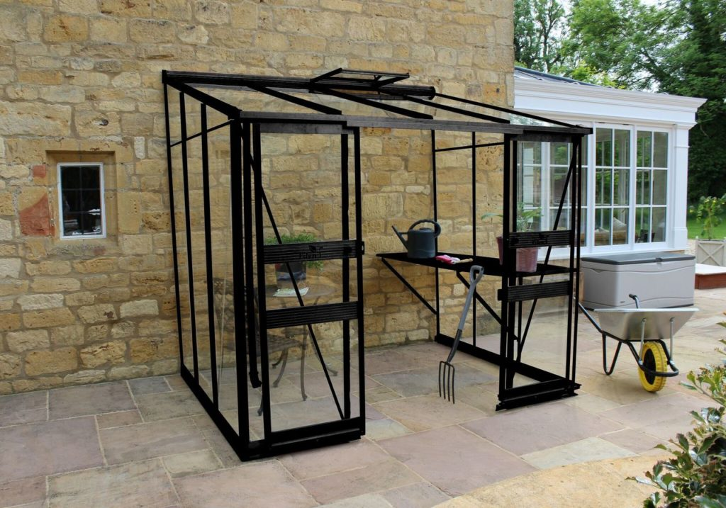 Eden Broadway 86 greenhouse in black