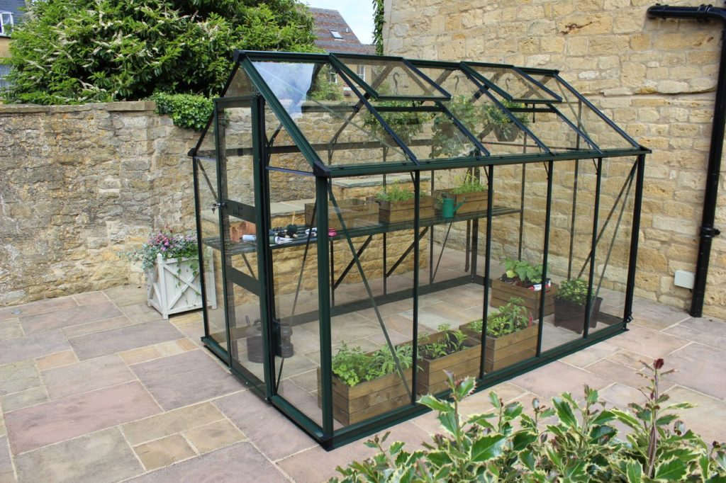 Eden Burford 610 greenhouse in green