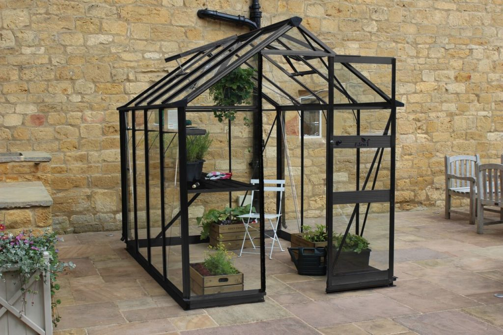 Eden Burford 68 greenhouse in black