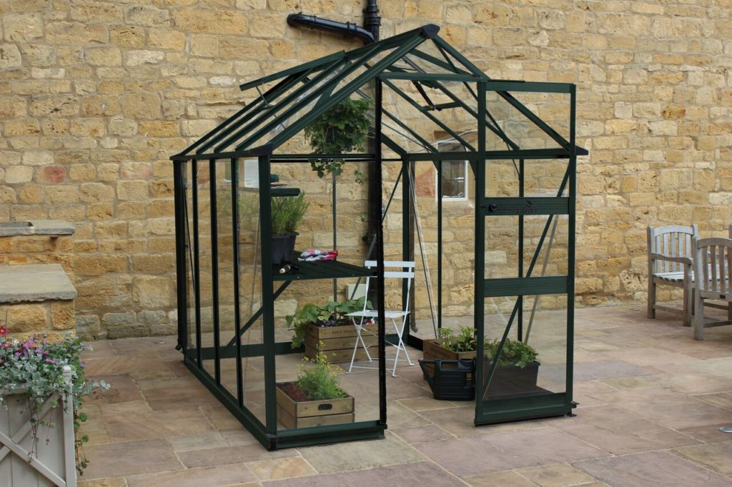 Eden Burford 68 greenhouse in green