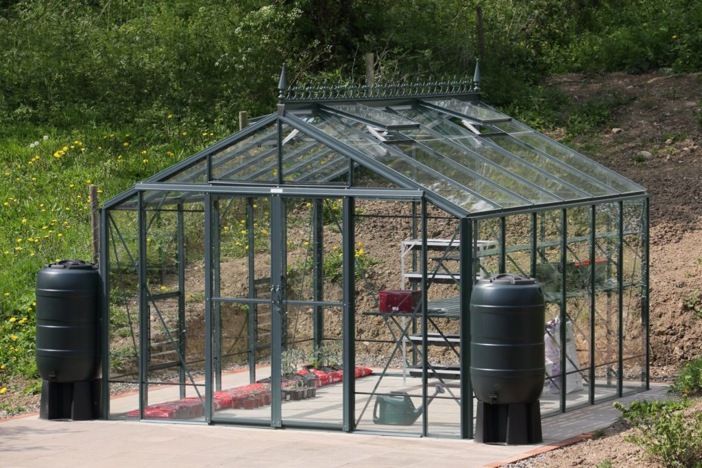 Robinsons Rosette Greenhouse Old Cottage Green