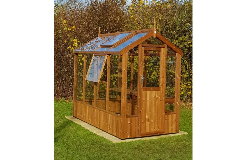 Lark Swallow greenhouse 4'7 x 8'4 with optional extra side vent
