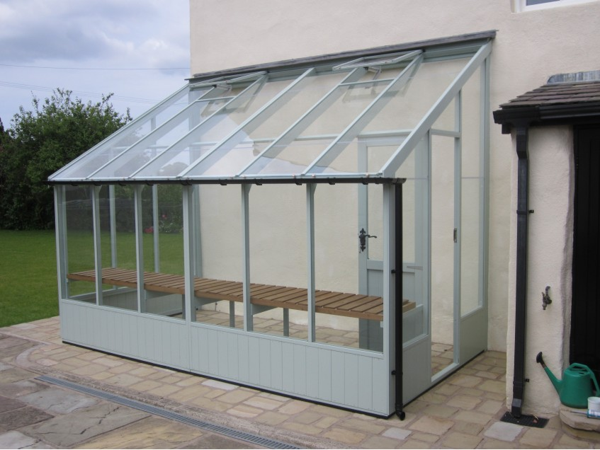 Swallow Dove Lean-to 6'7x12'7 in optional Lulworth Blue