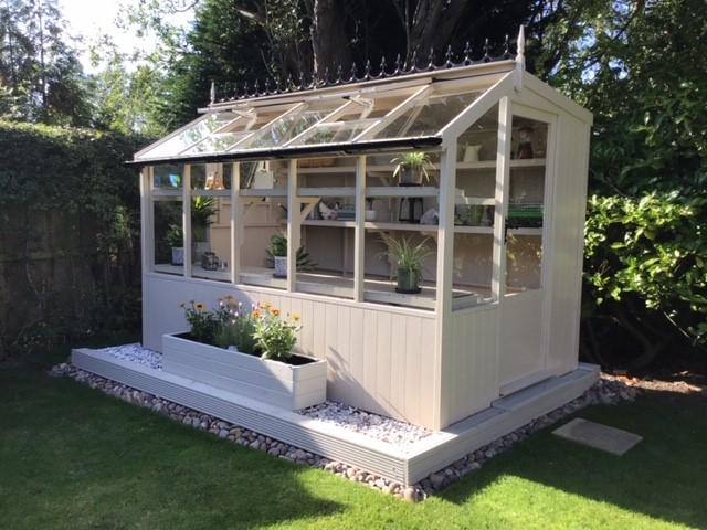 Jay 6'8 x 10'5 Potting Shed Oxford Stone