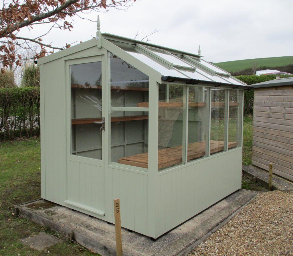 Jay 6'8 x 8'4 potting shed Vert de terre
