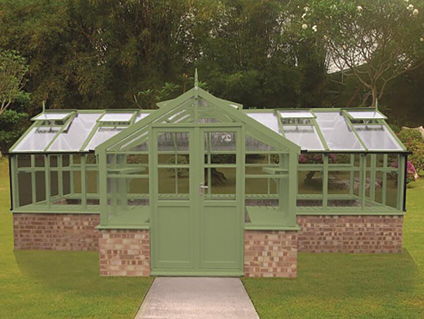 Swan greenhouse painted Bracken